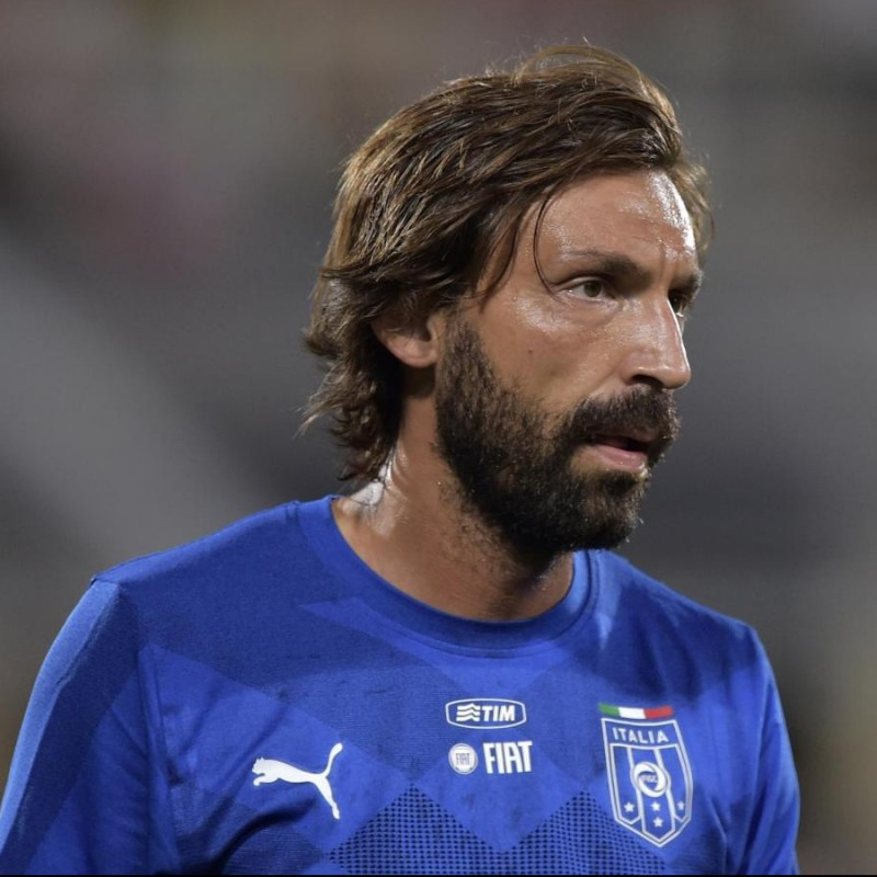 Pirlo's Official Italy Signed Shirt, 2016