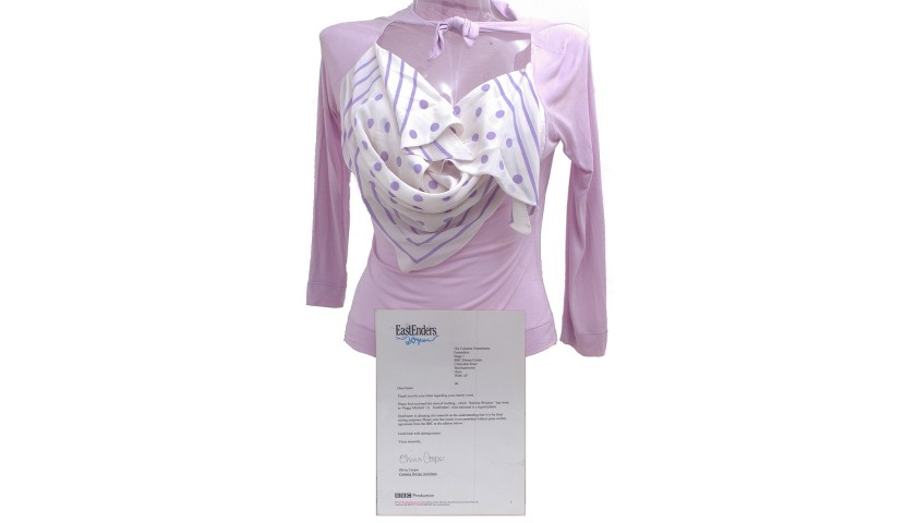 Barbara Winsor, 'Peggy Mitchell' EastEnders Worn Blouse.