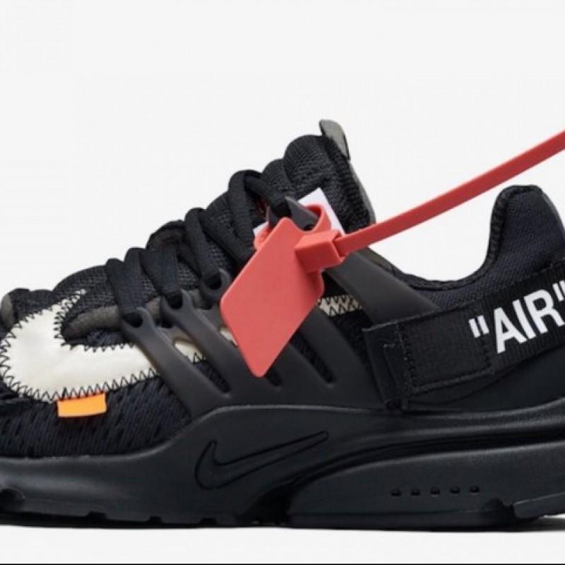 promo code fdf7d f872b Black Nike Air Presto Off White Sneakers