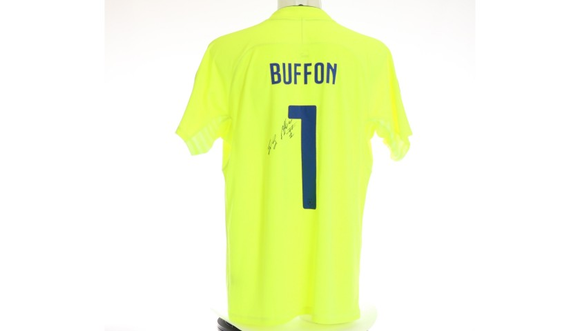 Buffon's Italy Signed Match Shirt, Euro 2016 Qualifiers