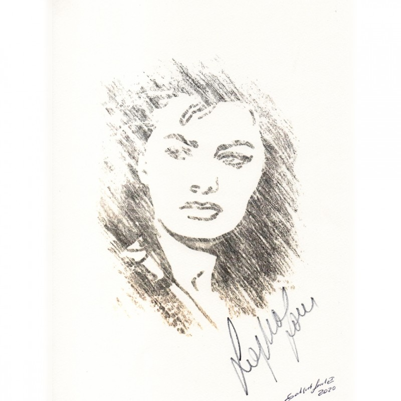 Sophia Loren Signed Pop Artwork by Gabriele Salvatore