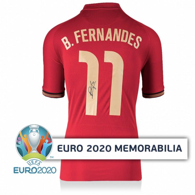 Fernandes' Portugal Signed Shirt - Official UEFA EURO 2020