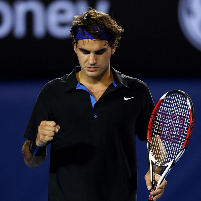 Roger Federer's Signed Match Shirt, Australian Open 2008