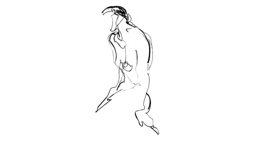 'Nudo Femminile' Artwork by Flaminia Lizzani