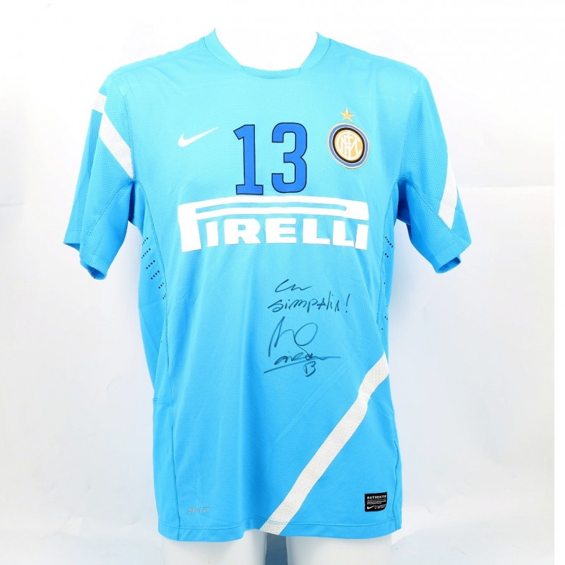 Maicon's Signed Inter Practice-Worn Shirt, 2011/12