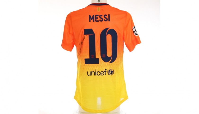 Messi's Barcelona Signed Match Shirt, UCL 2012/13