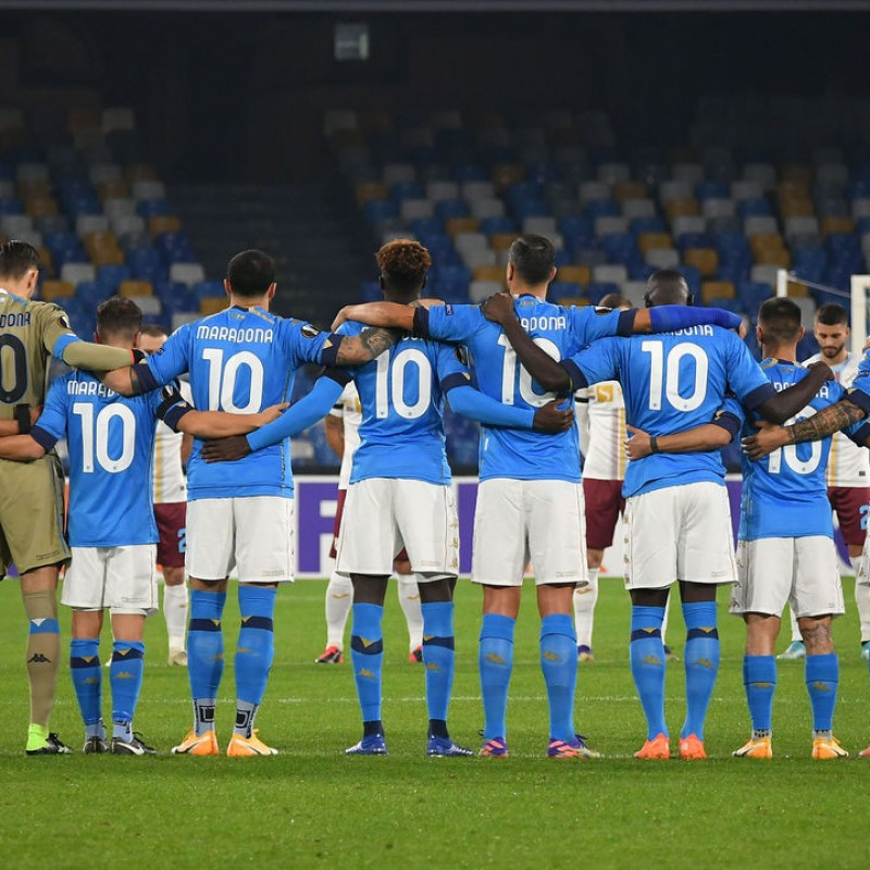Match Shirt, Napoli-Rijeka 2020, Special Maradona - Signed by Insigne