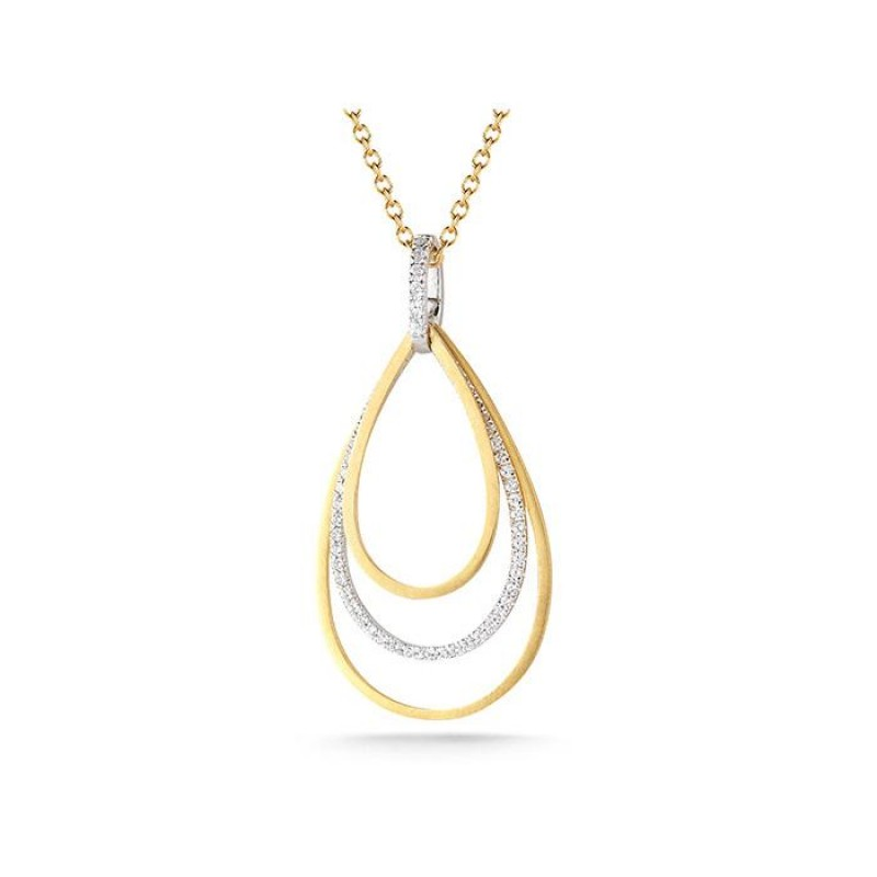 14 Karat Yellow Gold Tear-Drop Necklace