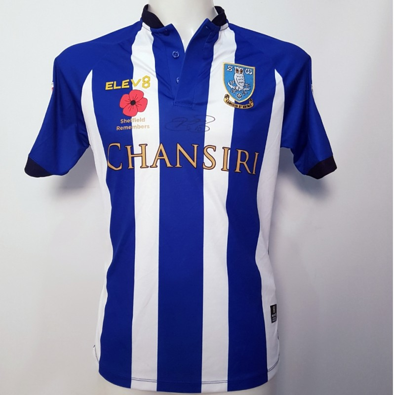 Barry Bannan's Sheffield Wednesday Worn and Signed Poppy Home Shirt