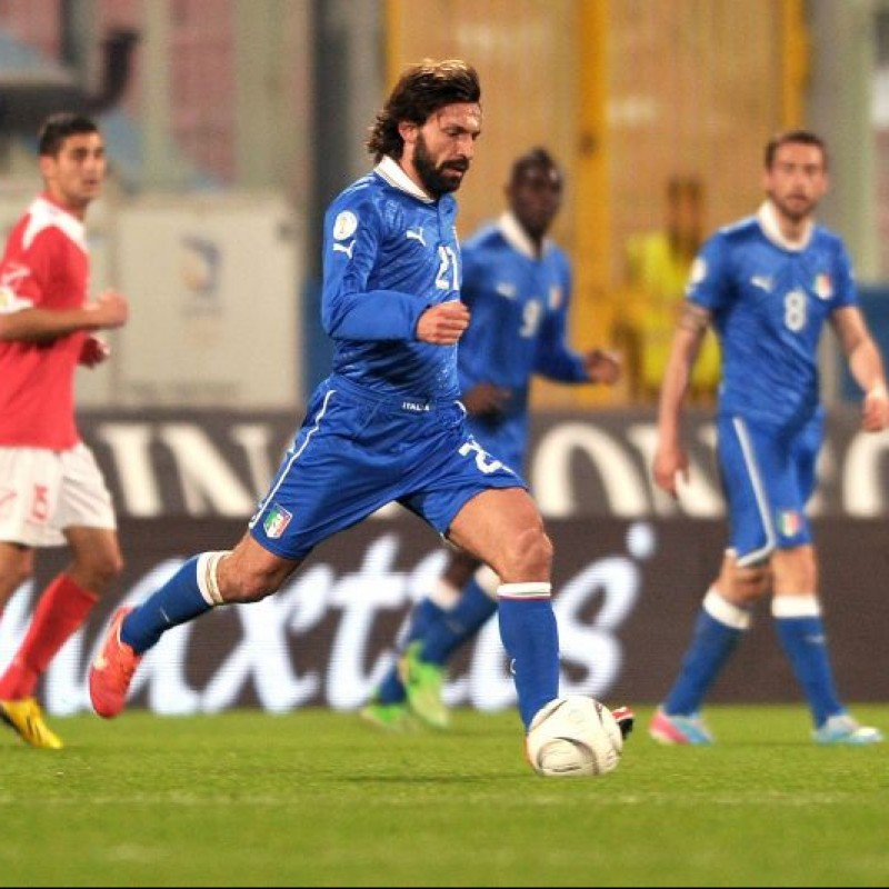 Pirlo's Italy Match Shirt, FIFA World Cup Qualifiers 2014