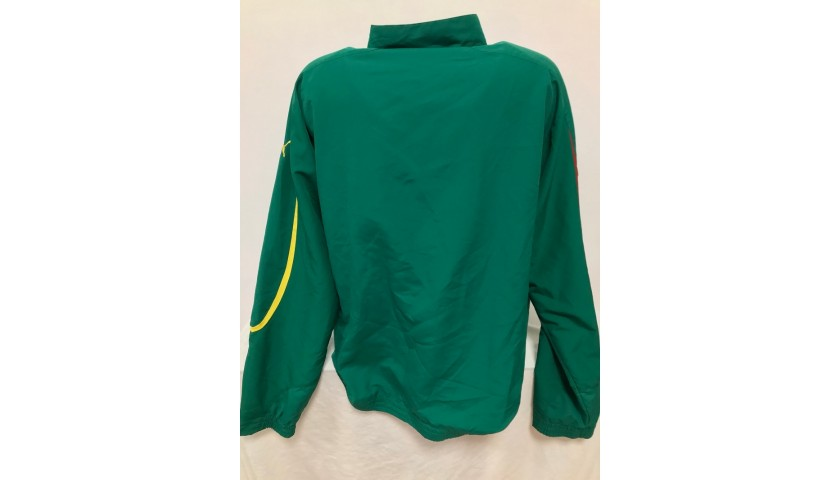 Cameroon Football Official Jacket Signed by Roger Milla