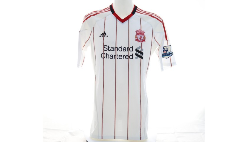 Gerrard's Liverpool Match Shirt, EPL 2010/11