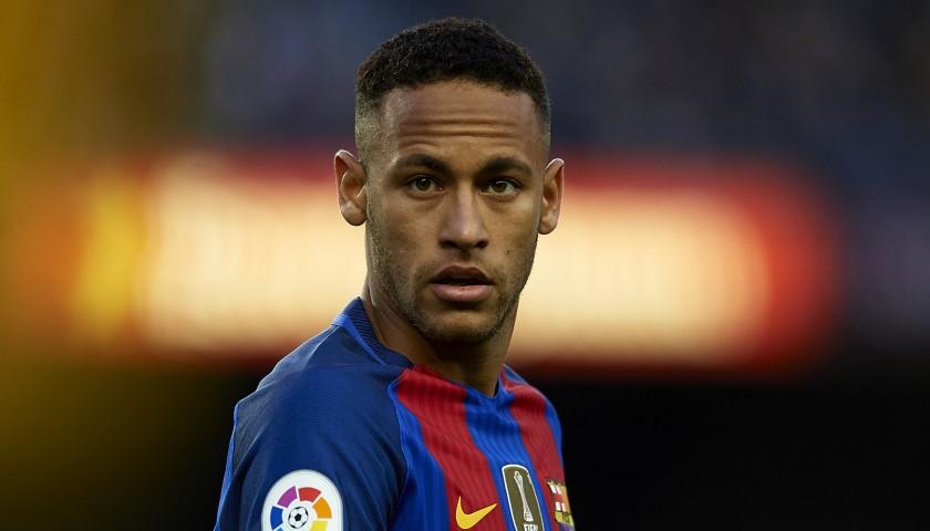 2c3b62911dd Neymar s Barcelona Match-Issue Worn Shirt