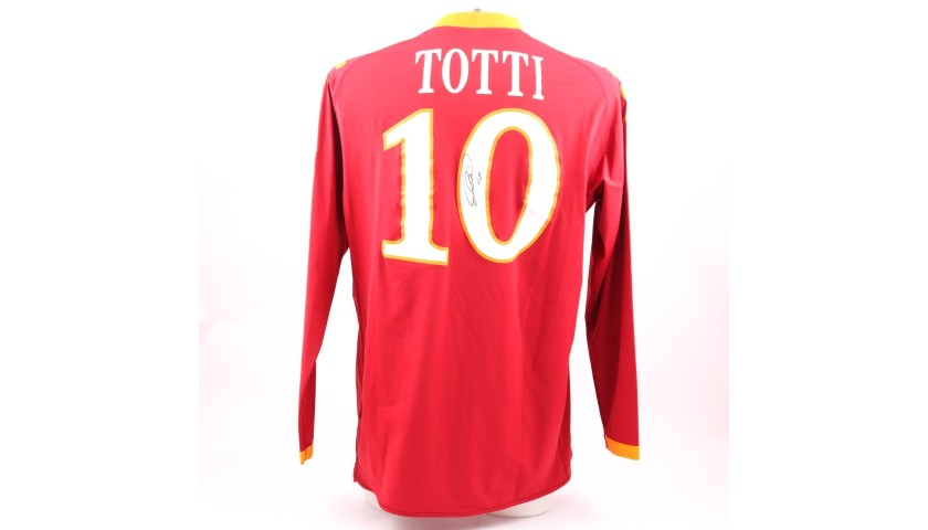 Totti's AS Roma Match-Issue/Worn and Signed Shirt, 2009/10