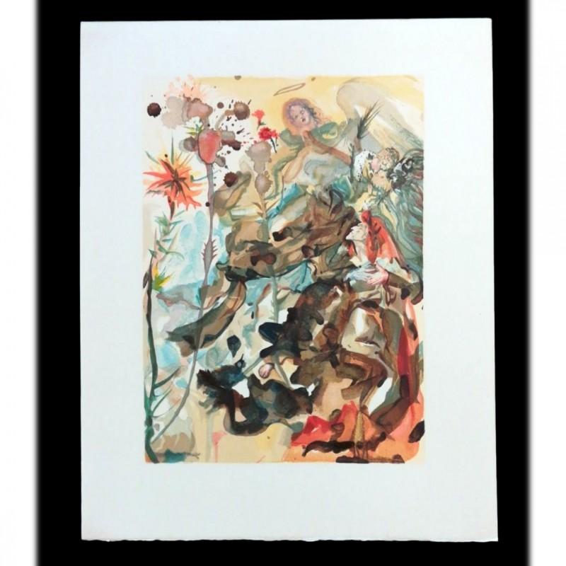 Original Board by Salvador Dalì - Divine Comedy Paradiso Canto XXVI