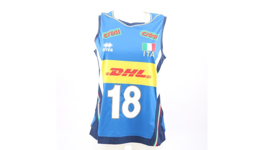Egonu's Italy Vest Worn at 2018 Volleyball World Cup