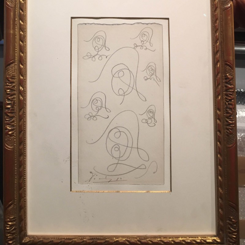 Original Picasso Artwork - Seven Studies for a Head of a Harlequin