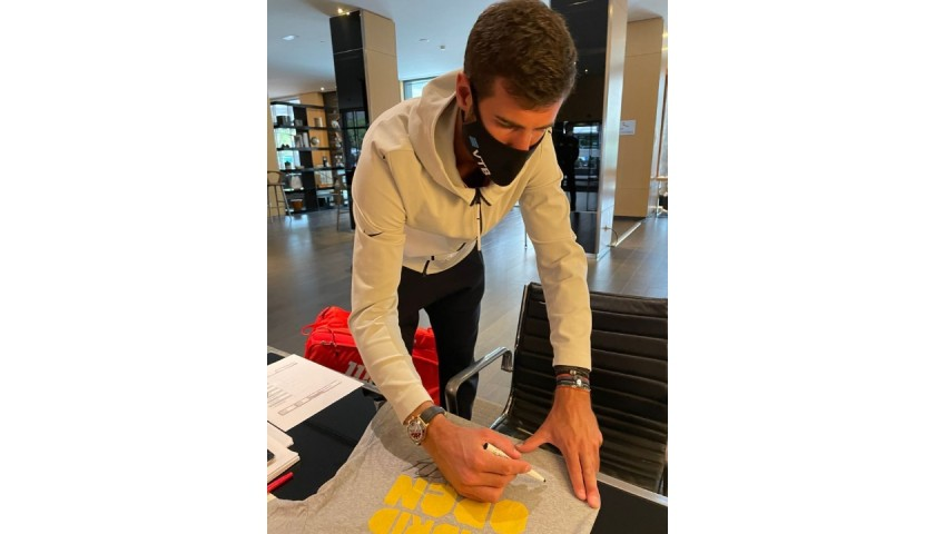 Official Mutua Madrid Open 2021 Shirt - Signed by Zverev, Medvedev, Rublev, khachanov and Karatsev