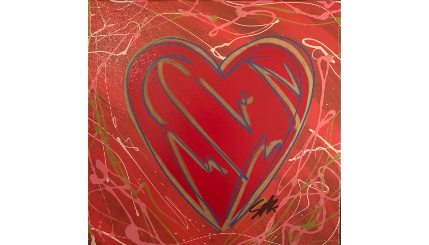 """""""Giving You My Heart Pollack Style"""" by Steve Kaufman"""