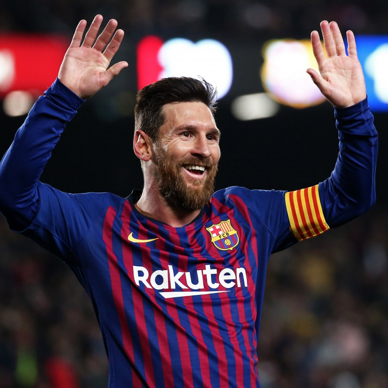 Messi's Barcelona Match-Issue/Worn Shirt, UCL 2018/19