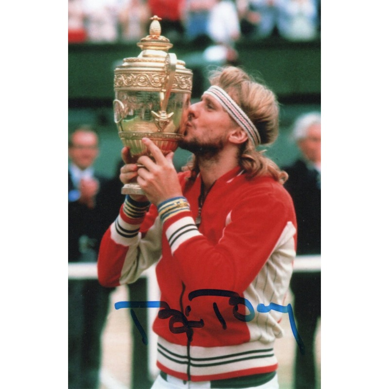 Photograph Signed by Tennis Legend Bjorn Borg