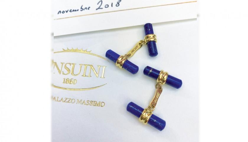 Ansuini Gold and Lapis Lazuli Cufflinks