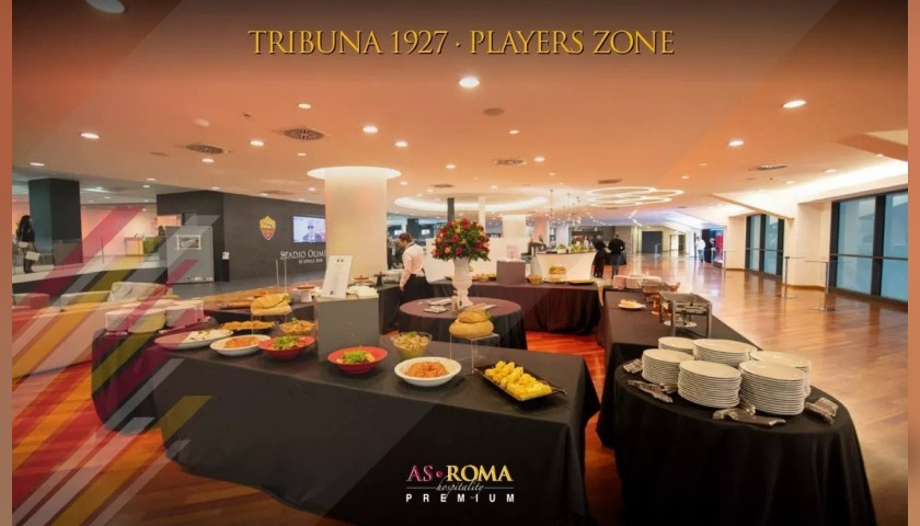 Enjoy AS Roma-Sampdoria from the Players Zone with Hospitality
