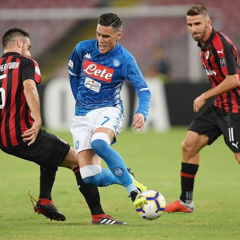 Callejon's Worn and Signed Shirt, Napoli-ACMilan 2018