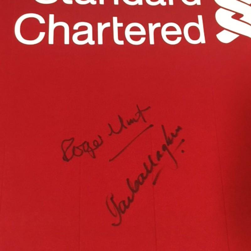 3e4a5a827 LFC Legends Roger Hunt   Ian Callaghan Signed 125 Home Shirt