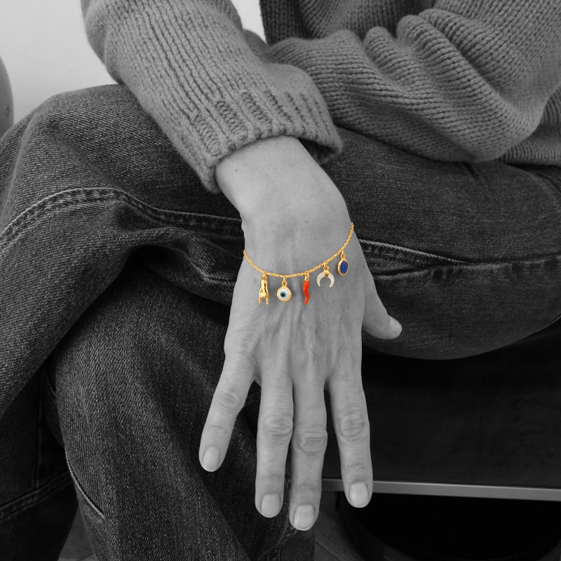 """Good Luck"" Limited Edition Bracelet in 18kt Gold"