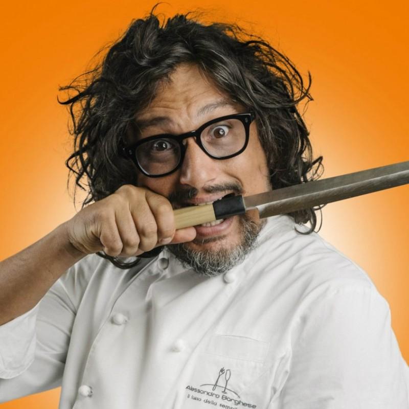 Casacca e coltello personali di Chef Alessandro Borghese