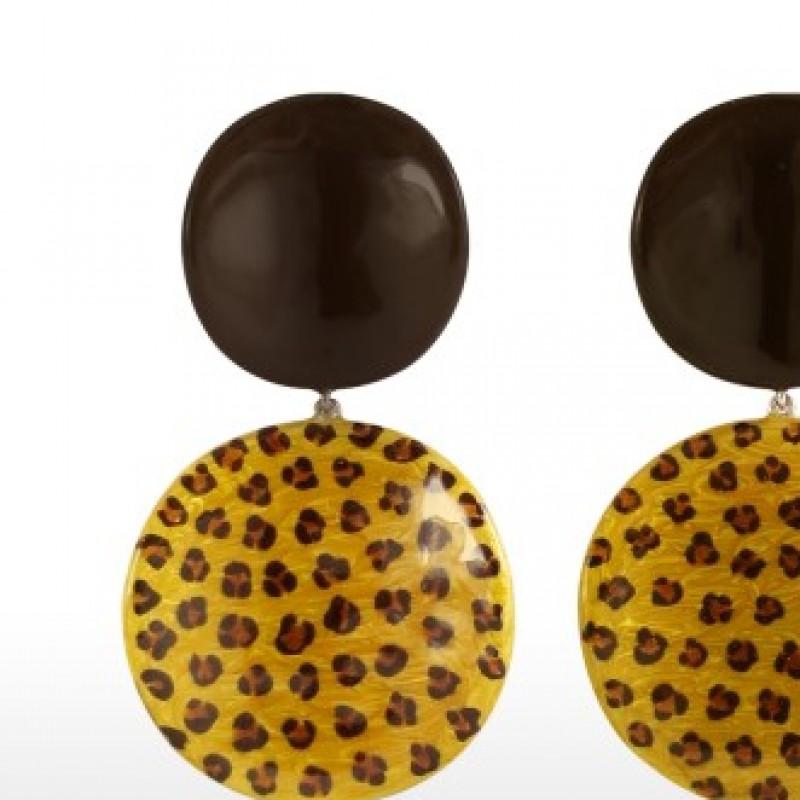 Sabbadini, pendant Earrings white gold and bronze