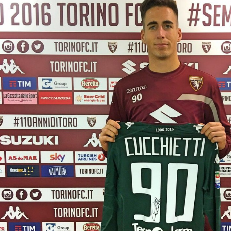 Cucchietti Match Issued/Worn Shirt, Serie A 2016/17 - Signed