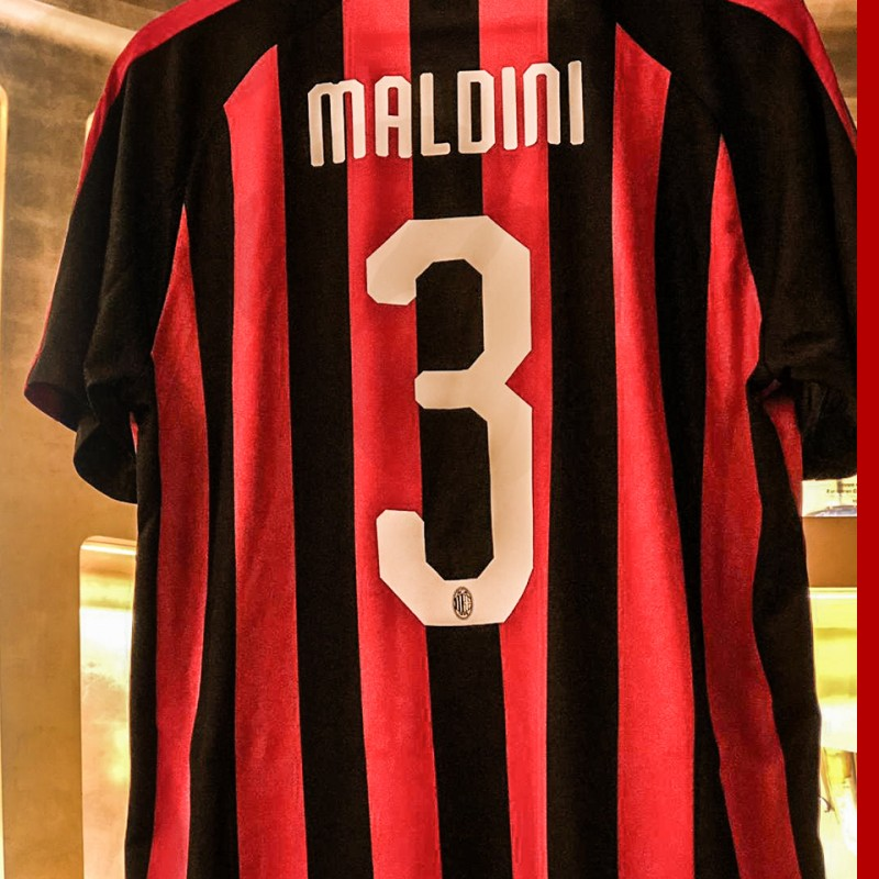 Maldini AC Milan Shirt, 2018/19 - Signed with Dedication