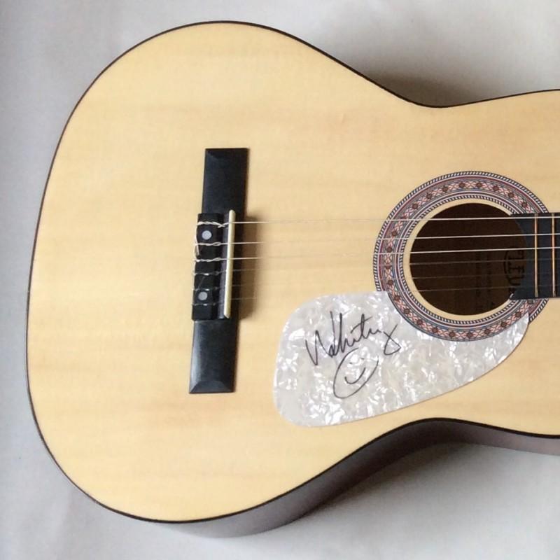 Whitney Houston Signed Acoustic Guitar
