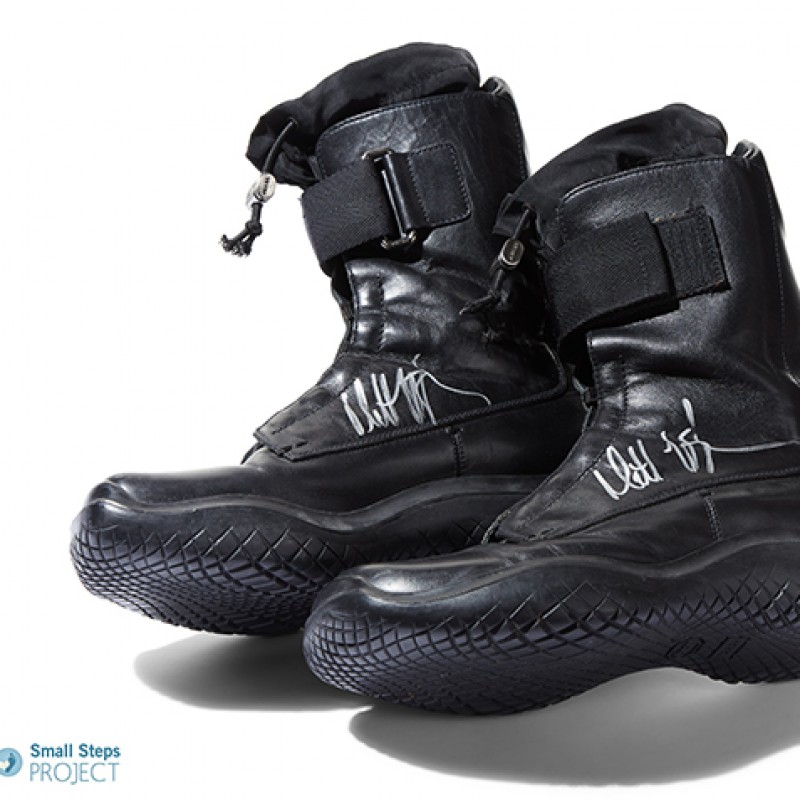 Matt LeBlanc's Autographed Prada Biker Boots from his Personal Collection
