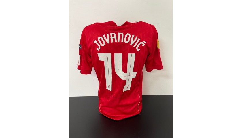Jovanovic's Official Liverpool Signed Shirt, 2011/12