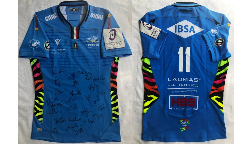 Bellini's Worn Shirt, Zebre Rugby Club-Bristol Bears 2020 - Signed by the Players
