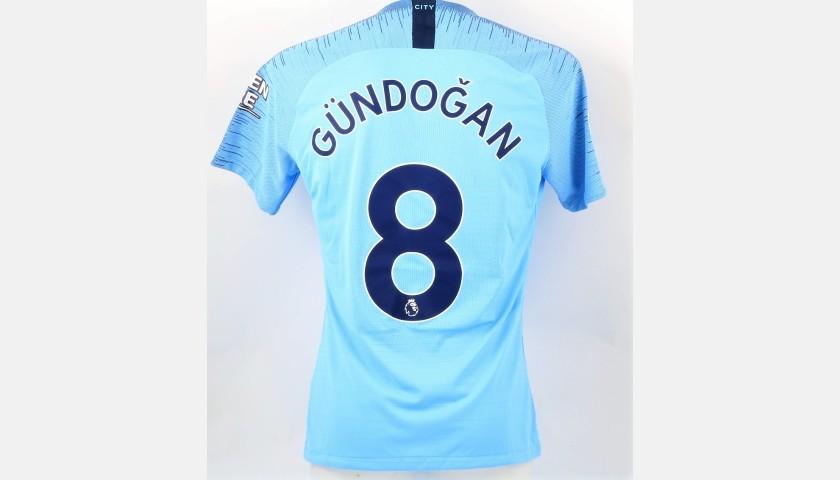 Gundogan's Man City Match Shirt, EPL 2018/19