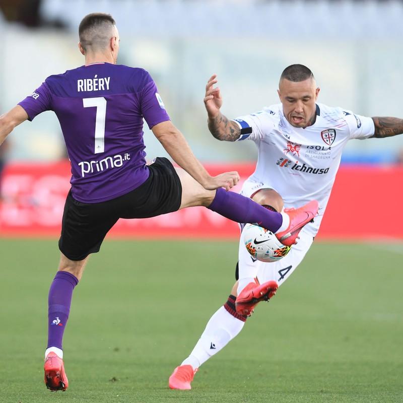 Nainggolan's Worn and Unwashed Shirt, Fiorentina-Cagliari 2020