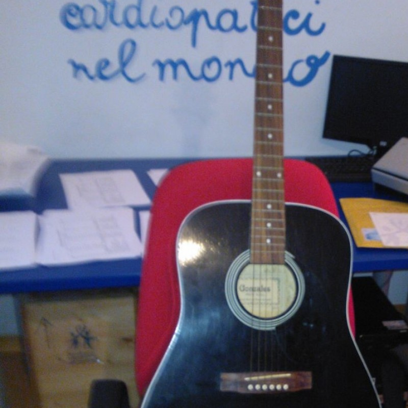 Guitar used by Enzo Decaro