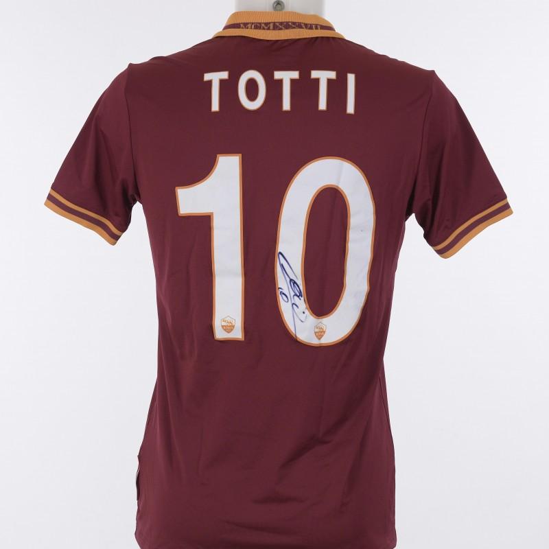 Francesco Totti's Signed Shirt,2013/2014