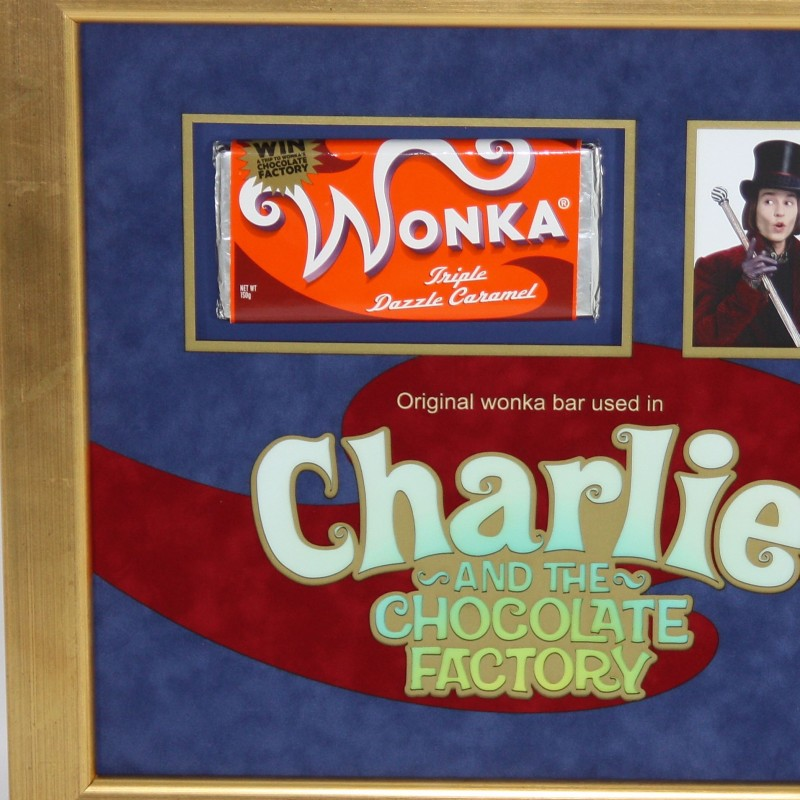 A Wonka Bar from Tim Burton's 2005 Film Charlie and the Chocolate Factory.