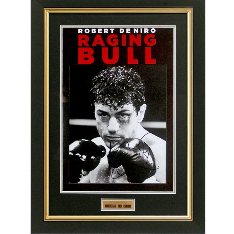 Robert De Niro Hand-Signed Raging Bull Presentation