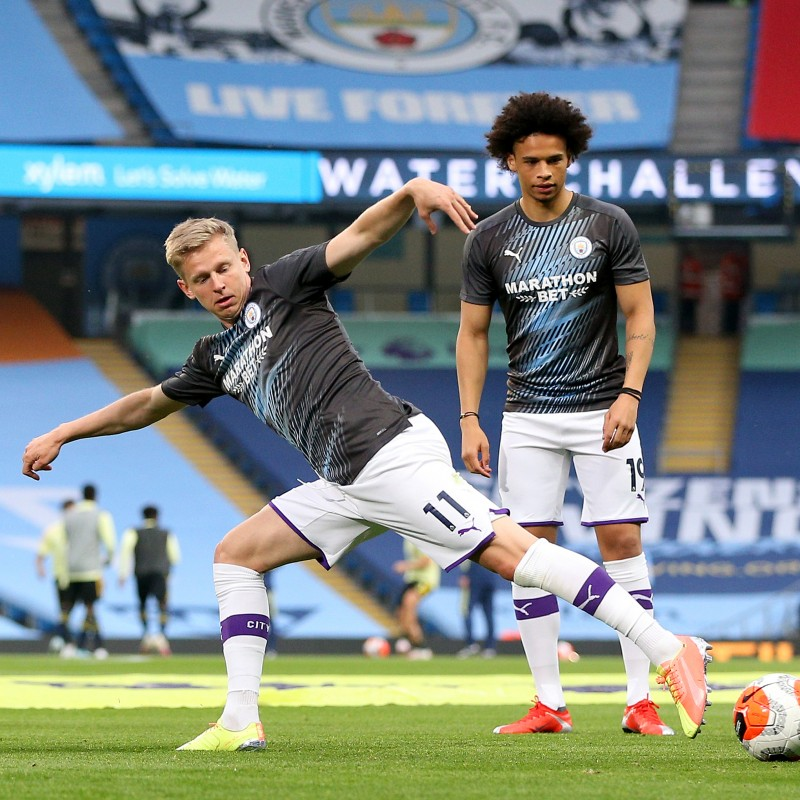 Cityzens Giving for Recovery Match Issued Shirt Signed by Oleksandr Zinchenko