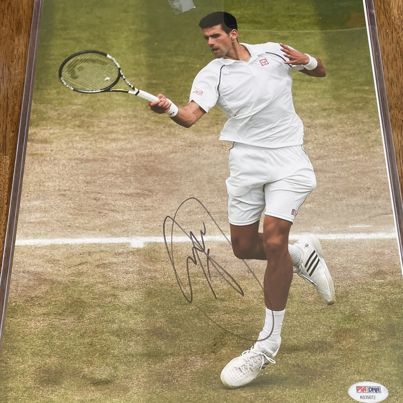 Novak Djokovic Signed Photo