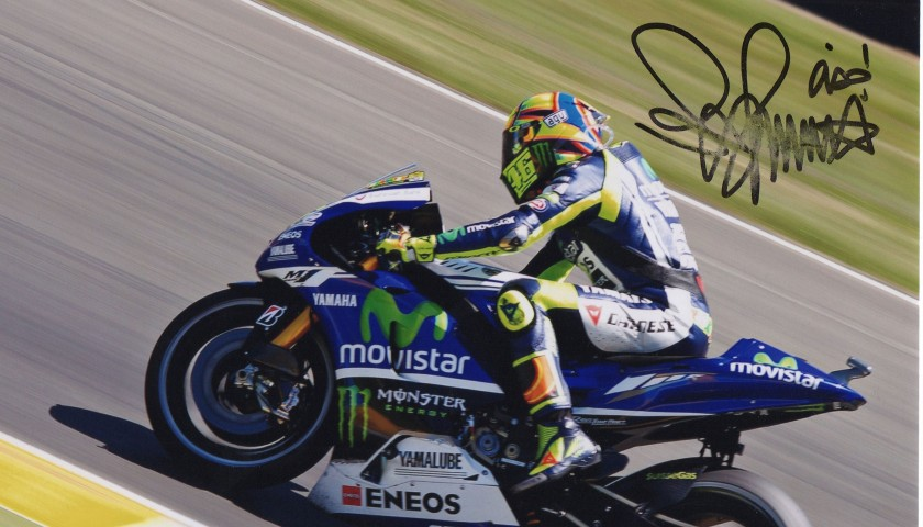 Picture signed by the italian pilot Valentino Rossi