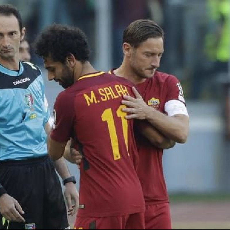 Salah's Official Roma Signed Shirt 2016/17, Totti Last Match