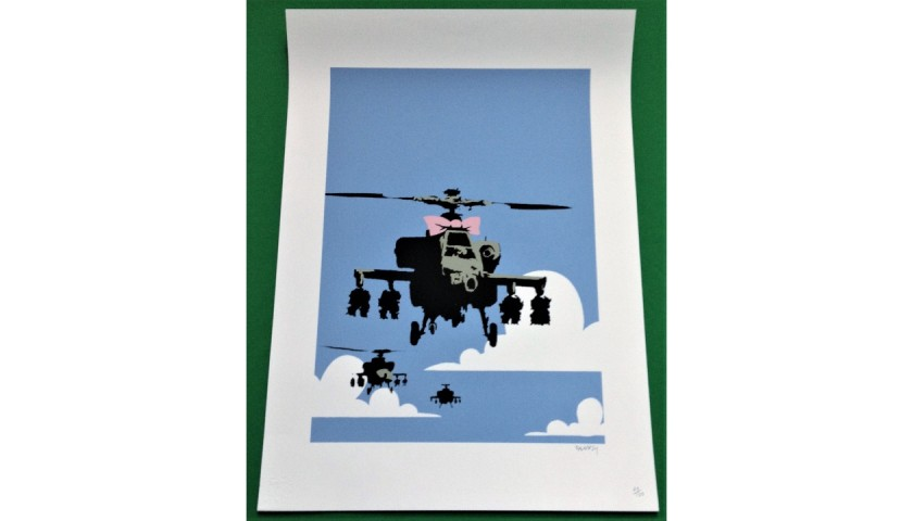"""""""Happy Choppers"""" - Original Offset Lithograph by Banksy"""
