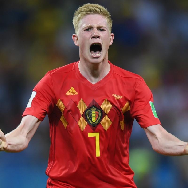 De Bruyne's Official Belgium Signed Shirt, 2018